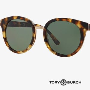 Tory Burch Tortoise Panama Sunglasses (Polarized)